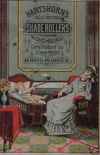 Hartshorns Shade Rollers Victorian Adv Trade Card
