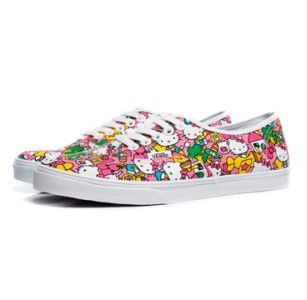 New Vans Authentic Lo Pro Hello Kitty Womens Sz 6 Classic Casual