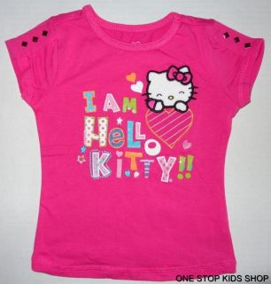 Hello Kitty Girls 2T 3T 4 5 6 Top Shirt Tee