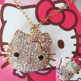 8GB Crystal Hello Kitty USB 2 0 Necklace Flash Drive
