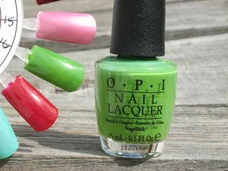 OPI Nail Polish Green Wich Village NL B69 Brand New Super Shiny HTF