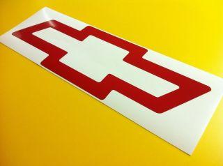 36 RED HUGE CHEVY BOWTIE Decal Sticker Chevrolet Logo Window