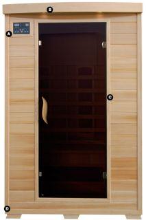 Infrared Sauna HEATWAVE HEMLOCK 2 Person W/ 5 Ceramic Heaters NEW