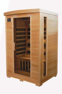 New Hemlock 2 Person Carbon Heater Infrared Sauna Authorized Dealer
