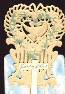 Antique Popup Greeting Card Valentine Germany Kline