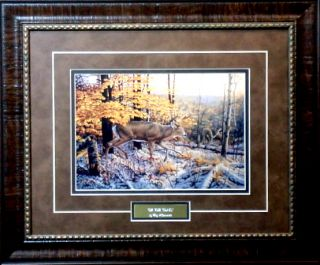 Greg Alexander on The Trail Deer Print Framed