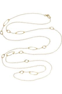 Nancy Caten Gold filled chain link necklace