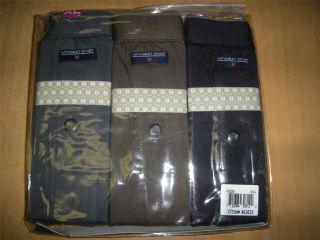 NIP 3PK HATHAWAY SPORT Mens Cotton Knit Boxers Sz XL 40 42 GRAY/GREEN