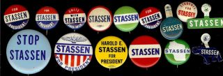 1960s Harold Stassen Presidential Hopeful Campaign Buttons