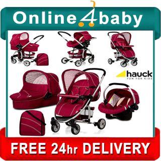 Hauck Malibu Plum Travel System Stroller Car Seat Pram