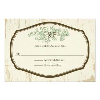 Rustic Country Wedding RSVP Custom Invite