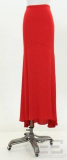 Haute Hippie Poppy Red Silk Maxi Skirt Size Medium New