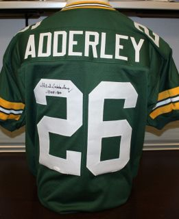 Herb Adderley Autographed Green Bay Packers Green Jersey Authenticated