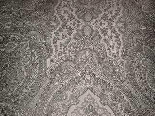 Hillcrest Grey Paisley Damask King Comforter 6pc Set