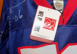 NFL HOF Harry Carson Dual Signed N Y Football Giants Reebok Throwback