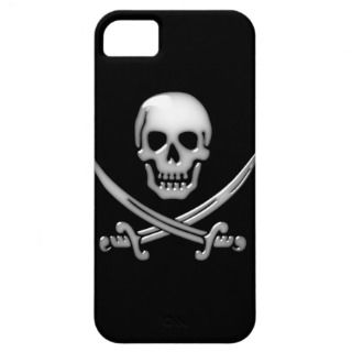 Glassy Pirate Skull & Sword Crossbones iPhone 5 Case