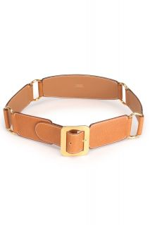 Hermes Size 28 Ladies 4 Station Belt in Light Brown Leather Buckle