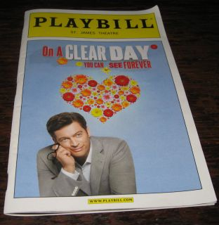 Harry Connick on A Clear Day Playbill