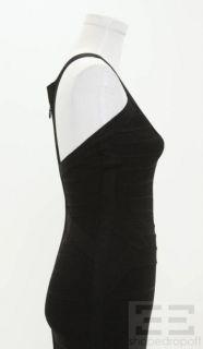 Herve Leger Black Sleeveless Long Bandage Dress Size s New