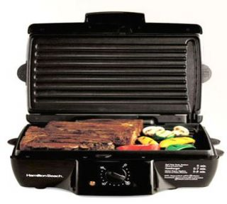 Hamilton Beach 25325 Indoor Grill Meal Maker Black New