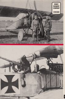 PICTORIAL HISTORY of GERMAN ARMY AIR SERVICE 1914 1918   Out of Print