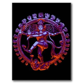 Shiva Nataraja dancing Post Card
