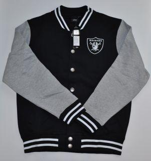 Athletic NFL Oakland Raiders Jersey Fleece Hewes Letterman Jacket