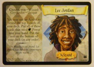 Harry Potter Trading Card Game TCG Diagon Alley Lee Jordan 19 80 RARE