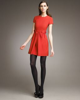 RED Valentino Belted Short Sleeve Dress