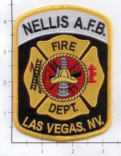 Nevada Las Vegas Nellis Air Force Base NV Fire Dept Patch