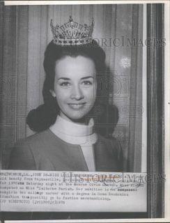 1970 Press Phoo Carol Almand Miss Louisiana Beauy Cones Winner