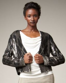 Haute Hippie Cropped Sequin Jacket
