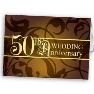 50.as tarjetas elegantes de la invitación del aniversario de boda con