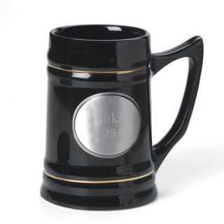 Personalized Ceramic Mug Pewter Emblem Groomsmen Gift
