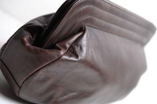 Jay Herbert Vintage Brown Leather Clutch