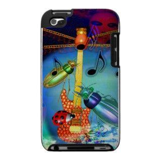 Beetles play rock guitar iPod case