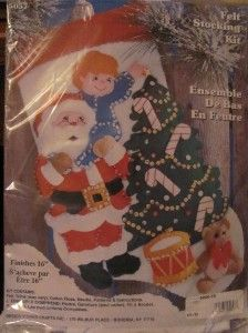 Felt Christmas Stocking Kit Design Works Crafts Santa Tree Reach for