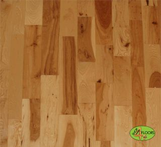 Hickory Solid Hardwood Flooring Natural Finish