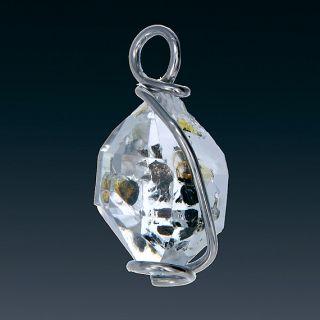 Herkimer Diamond Quartz Crystal Pendant & Earring Set in 925 Sterling