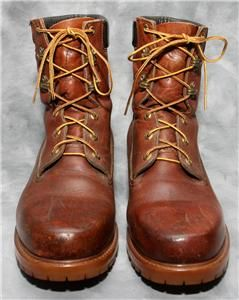 Vtg Leather Herman Survivors Insulated Waterproof Boots Size 11 MW