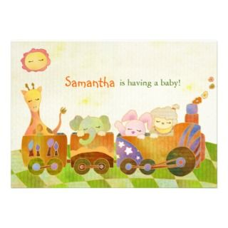 Cute Baby Animals Baby Shower Invitation