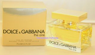 Dolce & Gabbana THE ONE for Women Mujer 2.5oz/75ml Eau de Parfum Spray