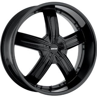 MKW M103 20 Black Wheel / Rim 5x110 & 5x115 with a 40mm Offset and a