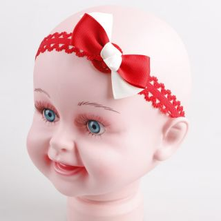 10pcs Lot Multi Colour Baby Girl Lace Bow Headband Hair Accessory D59K