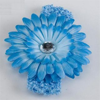 Cute Baby Girls Crochet Headband Daisy Flower Hair Clip
