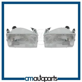 Ford Pickup Truck Headlamps Headlights Left LH Right RH Pair Set