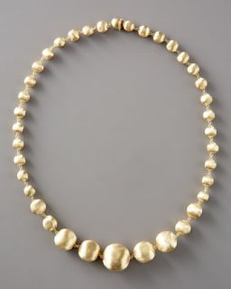 Marco Bicego Graduated Gold Bead Necklace, 18L