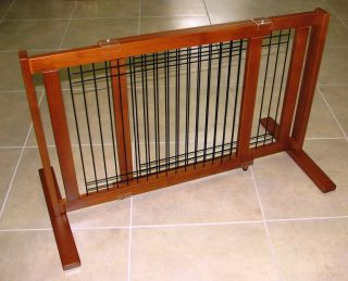 New 21 High Freestanding Pet Dog Gate Small Span Wood Wire Pet