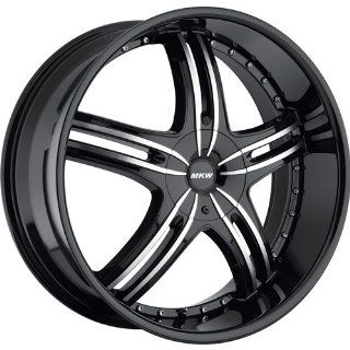 MKW M105 18 Black Wheel / Rim 4x100 & 4x4.5 with a 40mm Offset and a