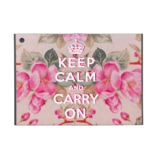 Girly keep calmVintage pink elegant floral roses iPad Mini Covers